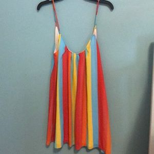 Show me your mumu rainbow stripe dress L